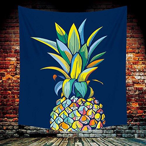 xkjymx Colorido piña Colgar en Tela Arte tapicería de la Pared decoración del hogar Mural Toalla de Playa piña Colorida (versión Vertical) 148x200cm