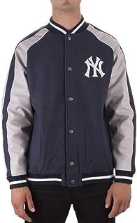 a056aa436a4e Majestic Chaqueta Mlb New York Yankees Letterman azul/gris talla: L (Large)
