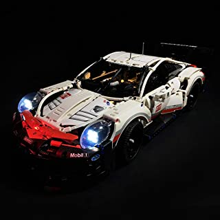 PeleusTech LED Light Kit for Lego Technic Porsche 911 RSR 42096 Race Car Building Set - LED Included Only, No Lego Kit