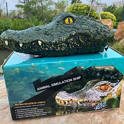 Spoof de agua recargable para niños cocodrilo juguete barco modelo transfronterizo comercio electrónico venta Jitterbug simulación cabeza de cocodrilo barco control remoto