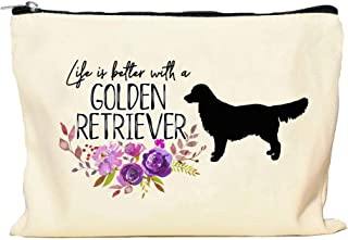 Golden Retriever Life is Better Makeup Bag