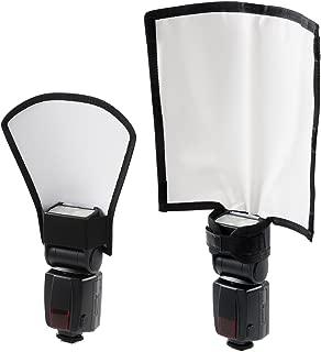 waka Flash Diffuser Reflector Kit - Bend Bounce Flash Diffuser+ Silver/White Reflector for Speedlight, Universal Mount for Canon, Nikon, etc.