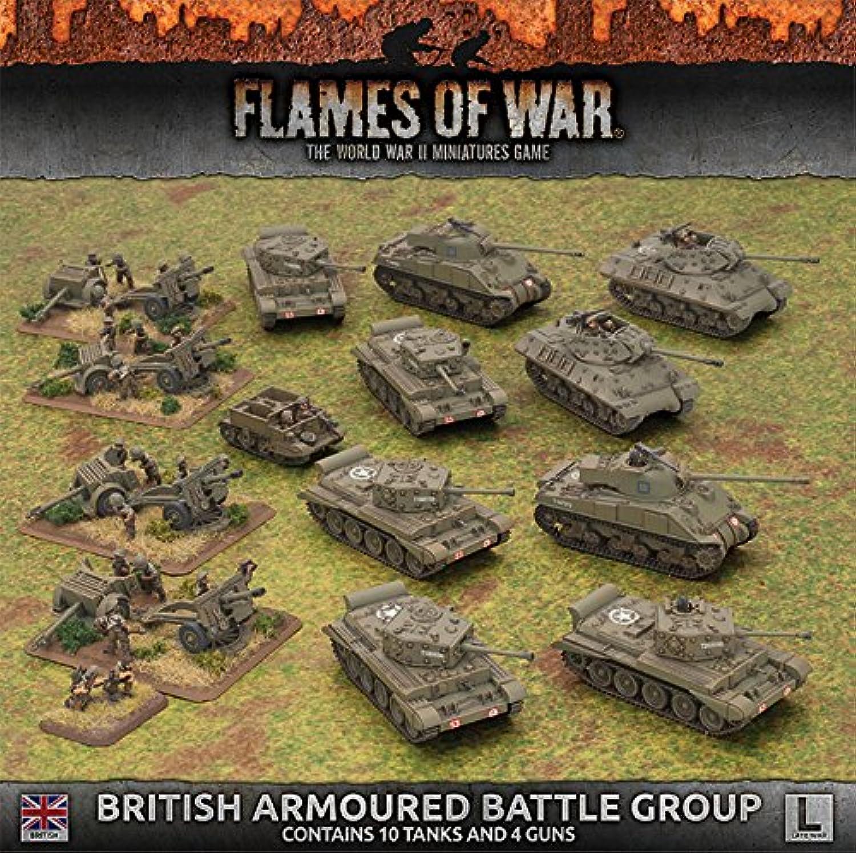 Flames of War  Late War  British Armourot Battle Group B0783GPVGG Neuer Stil  | Fierce Kaufen