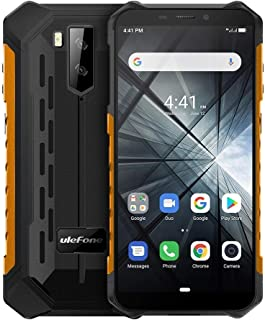 Phones Armor X3 Rugged Phone, 2GB+32GB, IP68 Waterproof Dustproof Shockproof, 5.5 inch Android 9.0 MT6580 Quad Core 32-bit up to 1.3GHz, 5000mAh Battery, Dual Back Cameras & Face Unlock, Network: 3G (