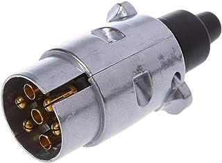 Fournyaa Conector de Remolque Enchufe de Remolque de 3 Clavijas Enchufe de Remolque con Carcasa termopl/ástica Negra para Remolque