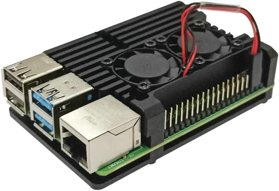 JVSISM Raspberry Ventilateur Double Pi avec Dissipateur De Chaleur Double Ventilateurs De Refroidissement Refroidisseur pour Raspberry Pi 3 Mod/èle B Plus Ou 3B