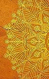 2021: Agenda 2021 Semana Vista, Planificador, Organizador, Diario, Agenda semanal 12 meses A5, Cubrir con Mandala amarillo naranja.