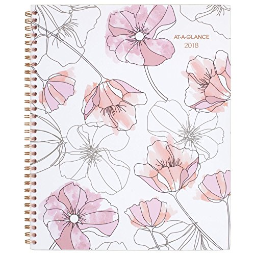 """AT-A-GLANCE Monthly Planner, January 2018 - December 2018, 8-1/2"""" x 11"""", Large, Blush (1041-900)"""