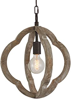 vintage wood pendant light
