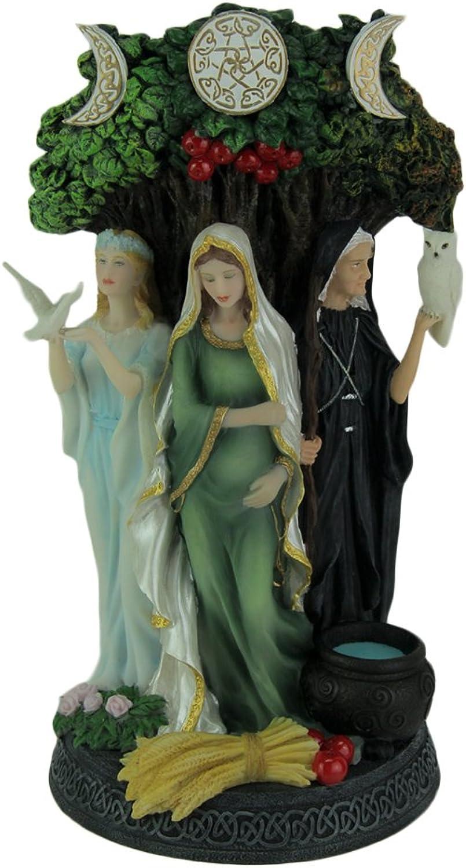 Resin Statues Danu Irish Triple Goddess Of The Tuatha De Danann Statue 6 X 10.5 X 5 Inches