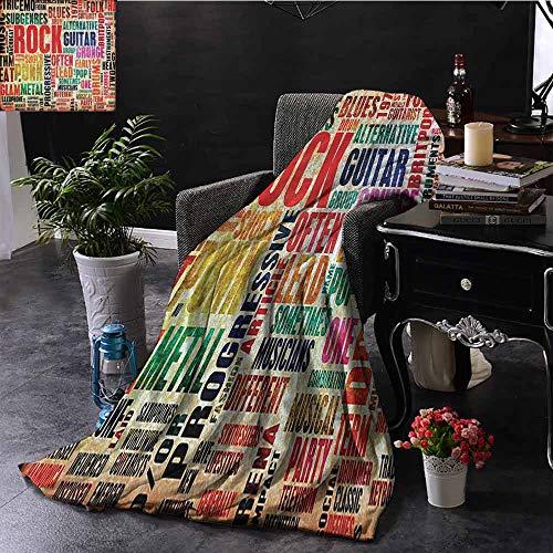 GGACEN Travel deken Muziek Piano Keys Curvy Vingerbord Zomer Entertainment Bloeien Binnen/buiten, Comfortabel voor alle seizoenen