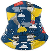 Schnauzer Raincoat Dog Ski Mask Cold Weather Face Mask Neck Warmer Fleece Hood Winter Hats