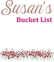 Susan's Bucket List: Rose Gold Notebook with flowers Personalised lined Notebook Gift For Her