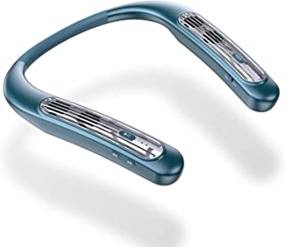 ネックスピーカー ウェアラブル Bluetooth 5.0スピーカー 完全ワイヤレス 首掛けスピーカー ポータブル ネックすぴーかー 15時間連続再生 IPX5防水 APT-X マイク内蔵 ノイズキャンセリング オーディオ用/電話/テレビ/ゲーム