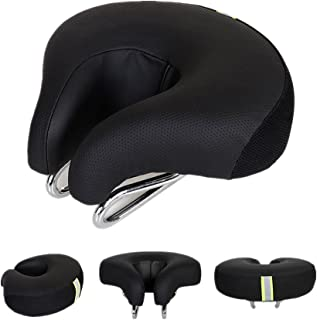 UNISTRENGH Bike Saddle Seat No Nose MTB Mountain High Resilience Bicycle Seats Comfortable Ergonomic Cycling Pad Cushion