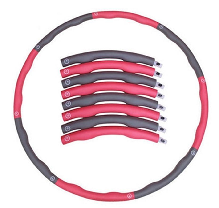 聖なる財布芝生(イスイ)YISHUI フラフープ フープ ダイエット シェイプアップ くびれ 組み立て式 折りたたみ 100cm 8本組 2カラー