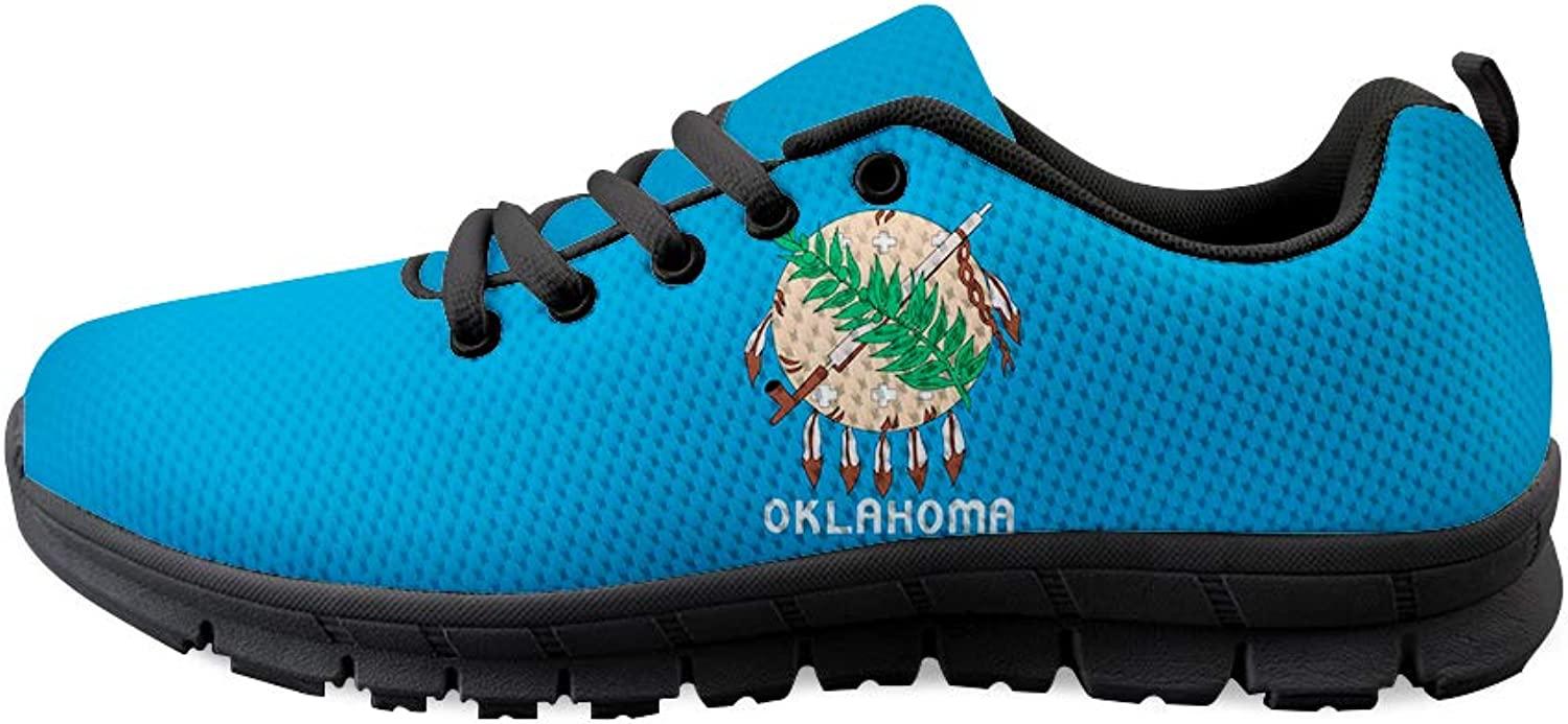 Lace-up Sneaker Training shoes Mens Womens Indian Tribal Sooner State Oklahoma Flag