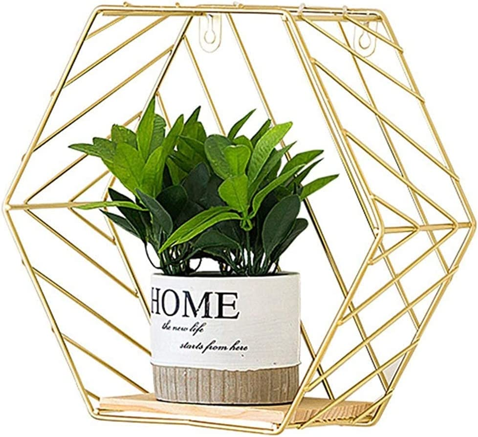 GONGFF Popular product Ranking TOP1 Hexagon Floating Shelf for Home Sto Decoration Wall Mount