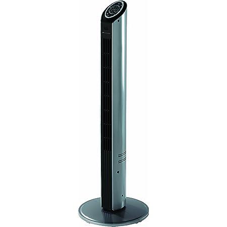 Bionaire - BT001 - Colonne ventilateur ultra mince - modèle à oscillation programmable - hauteur 94cm - argent/noir