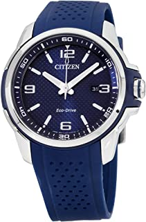 AR Blue Dial Silicone Strap Men's Watch AW1158-05L