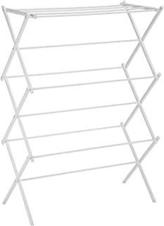 Magna Homewares Accordion Steel Foldable Cloth Drying Stand/Clothes Dryer Stands/Laundry Racks/Cloth Drying Hanger for Bal...