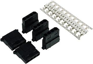 Phobya 82354 4-Pin Molex Negro - Conector (4-Pin Molex, Negro, De plástico, 5 Pieza(s))