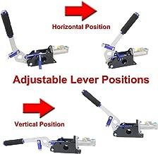 Hydraulic Handbrake Universal Ebrake Fit For Drift Track Rally Racing Emergency Parking E-Brake Adjustable Pre-Load & Pin Locations Vertical HorizontalPosition With Anti-Slip Sponge Handle (Blue)