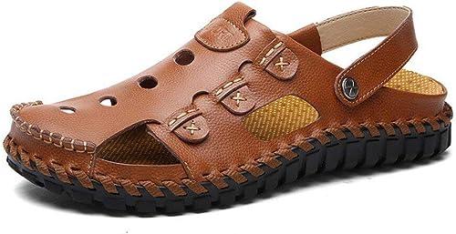 Fuxitoggo Sandales d'été, d'été, Chaussures de Plage pour Sports de Plein air pour Hommes, Sandales Tendance pour Hommes à Bout Ouvert. (Couleur  E, Taille  41) (Couleuré   B, Taille   43)  promotions passionnantes