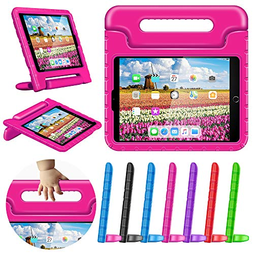 Greatgo Case for iPad 9.7 Kids Air 1 2 Case Shockproof Childproof Lightweight with Convertible Handle Stand Tablet Case for 6th 5th Generation iPad 9.7