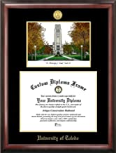 Campus Images OH985LGED University of Toledo Embossed Diploma Frame with Lithograph Print, 8
