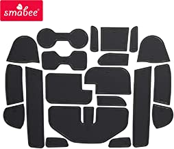 SMABEE Anti-Slip Gate Slot Pad Rubber Cup Holders Mat and Center Console Liner Interior Decoration Accessories for Nissan Navara NP300 D23 2016-2019 (Black)