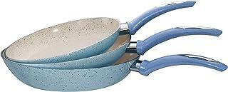 El Amal Elite Granite Frypan Set, 3 Pieces - Baby Blue