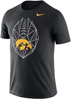 Nike Men's Black Iowa Hawkeyes Football Icon Performance T-Shirt