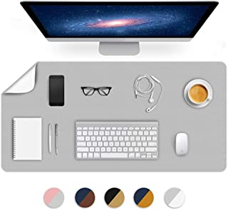 Dual-Sided Using Office Desk Blotter Mats Table Protector Pad on Top of Writing Desks Laptop Computer Desktop Décor Accessories Under Keyboard Gaming Mousepad for Men Boy Kids PU Leather 24X48 Inch