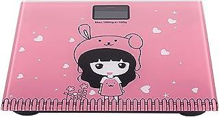 MHBY Báscula de Peso, báscula electrónica báscula de baño doméstica Digital báscula de baño con batería de Dibujos Animados de Animales Lindos
