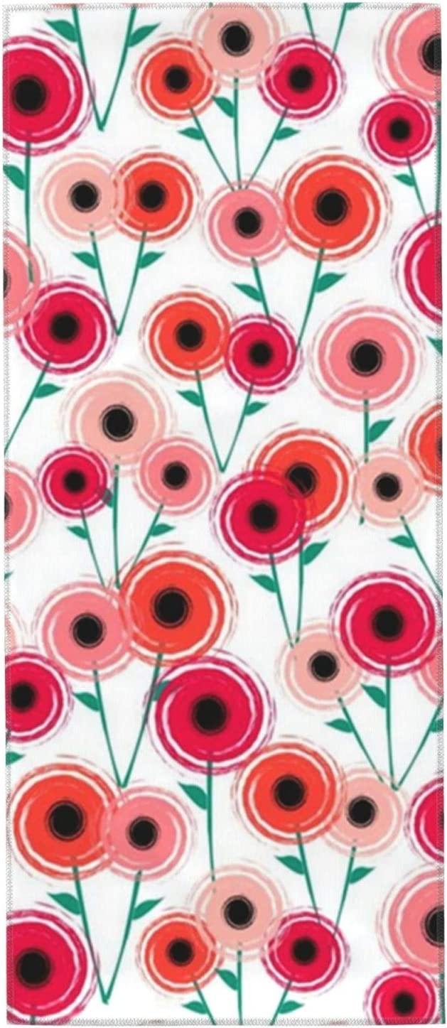Mid Century Modern Poppies Towels Inch Time sale W 27.5x12 Washcloths OFFicial shop Hand