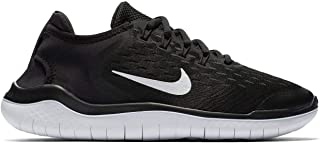 Official Brand Nike Free Run 2018 Trainers Juniors Boys Black/White Shoes Sneakers Footwear