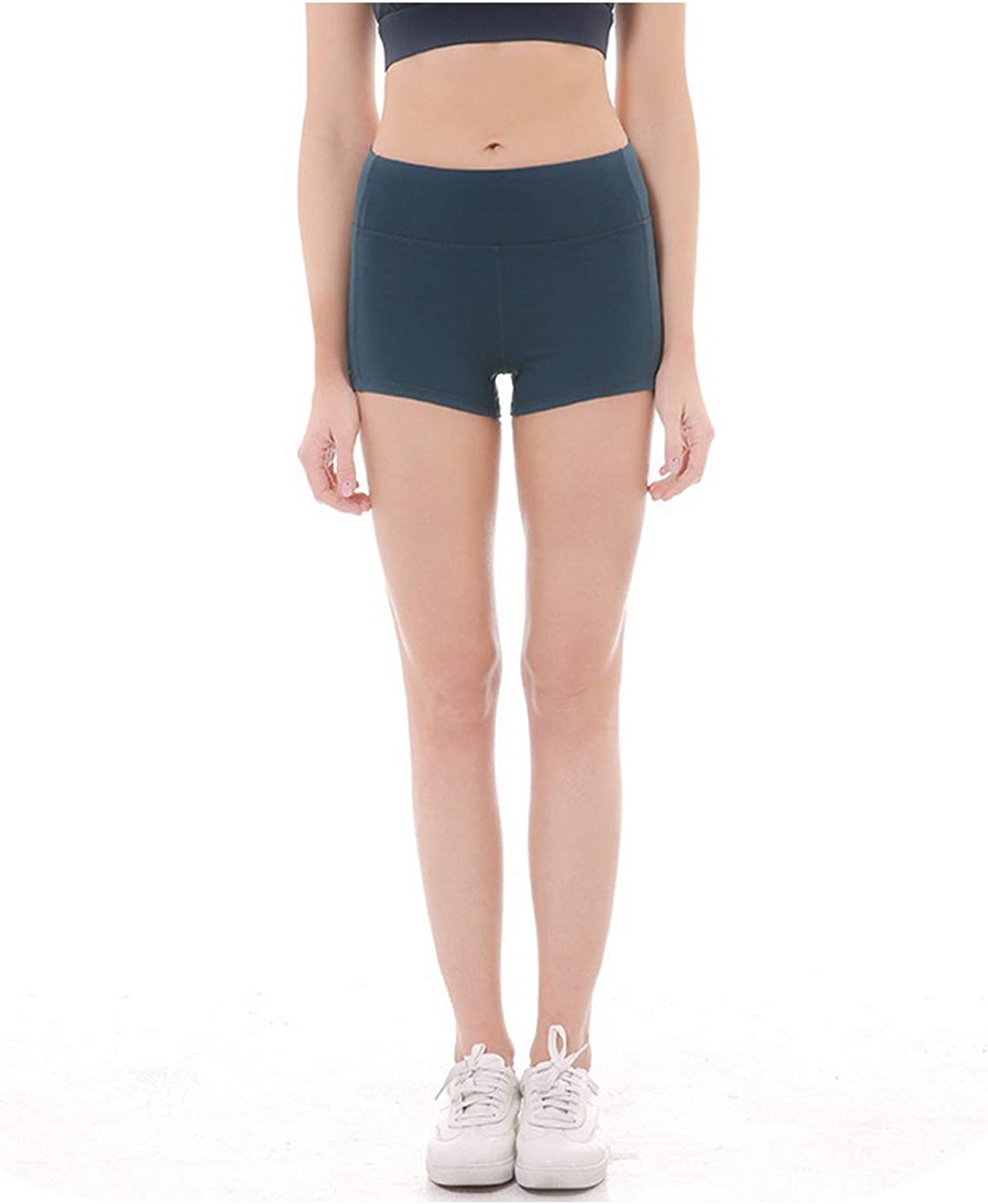 V-A-O-L Yoga Shorts Women High Waist Tight Athletic Quick Dry Solid