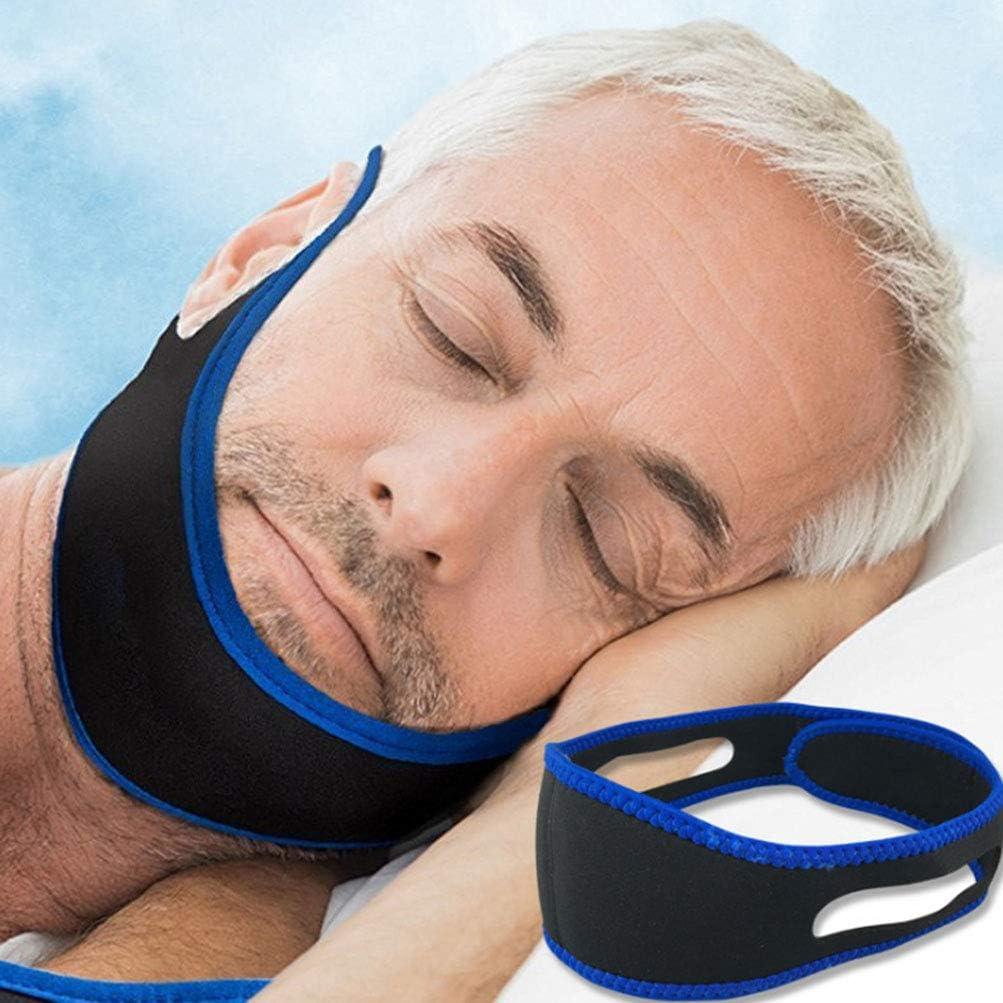 HQLCX Cinturón Anti-Ácaro Máscara para Dormir Cinturón para Roncar Protección para Roncar Desorientación de La Mandíbula Cinturón de Soporte Herramientas de Cuidado de La Salud,76cm