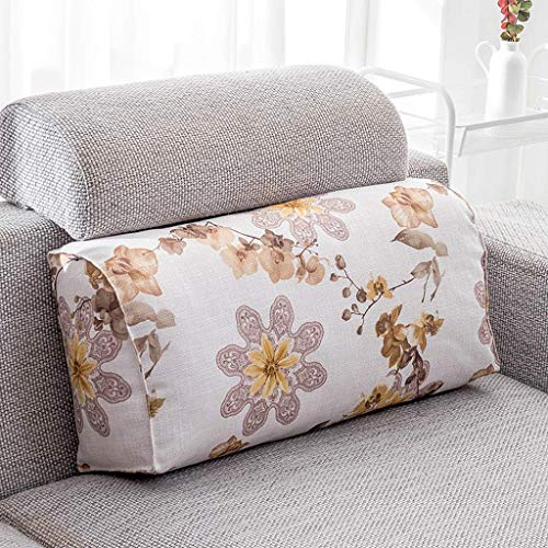 Screenes Zhaoshunli Kids Coussin Lombaire Maison Textile Tissu Lin Rectangle 65 Simple Style * 29 * 17 Cm (Couleur Fleur Langue Bleu) (Color : 1 Coffee, Size : Size)