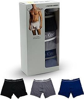 [カルバンクライン] Calvin Klein ボクサーパンツ 3枚セット 2タイプ ブラック グレー ブルー [並行輸入品]