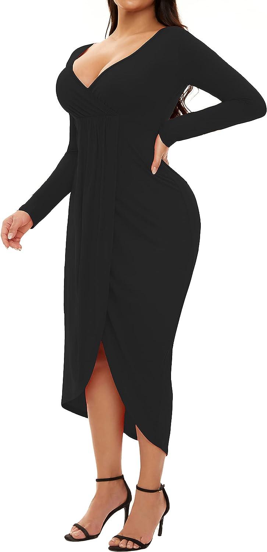 Plus Size Club Dresses for Women Party Night Bodycon Prom Ball Gown Wedding Bridesmaid Midi Dress