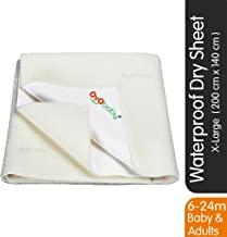 OYO BABY Water Resistant Bed Protector Baby Dry Sheet with Ultra absorbance -X-Large(200 cm X 140 cm), Ivory