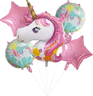 iTelker Unicorn Balloon Birthday Party Decoration, Pink Unicorn Polyester Film Balloon, Suitable for Unicorn Party Supplie...