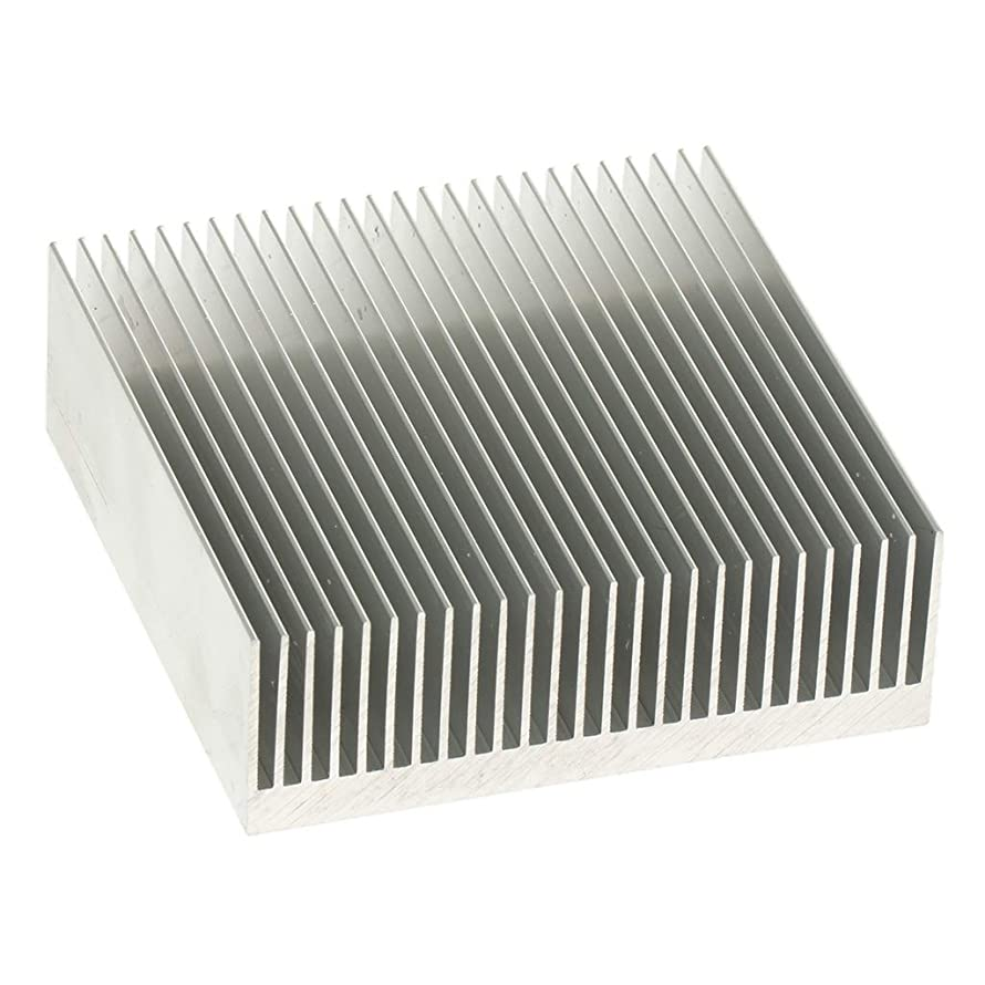 Almencla 80x80x26.9mm/3.15x3.15x1.06inch Aluminum Heat Sink Heat Sink Cooler Cooling for CPU IC LED Power
