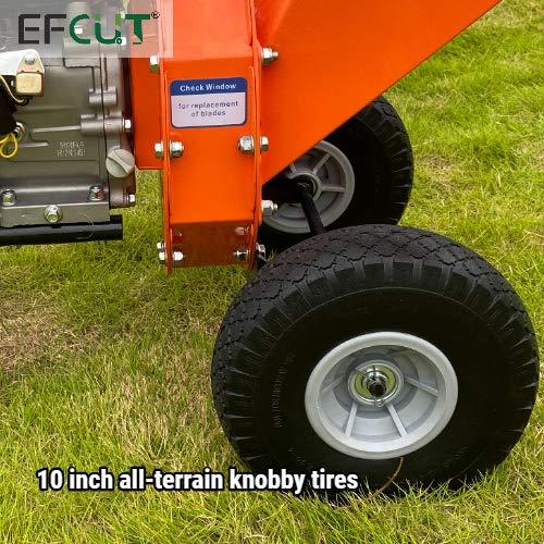 EFCUT C30 Mini Wood Chipper Shredder Mulcher 7 HP 212cc Heavy Duty Engine Gas Powered 3
