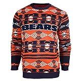 NFL Football 2015 Aztec Ugly Crew Neck Holiday Sweater - Pick Team (Chicago Bears, Medium)
