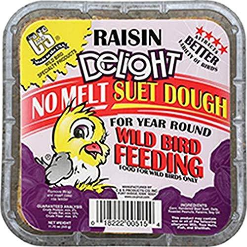 C. & S. Prod. 12515 Wild Bird Hang-Up Suet Cake-RAISIN DELIGHT SUET