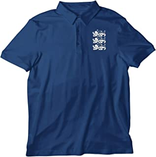 Navy Three Lions Unisex Polo Shirt Great for Supporting England During Football Cricket Rugby Great for Any Birthday Prese...