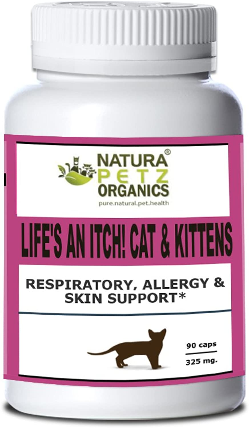 Natura Petz Organics Life's an Itch  Respiratory, Allergy & Skin Support for Cats, Size 3